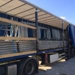 Livraison dalle container