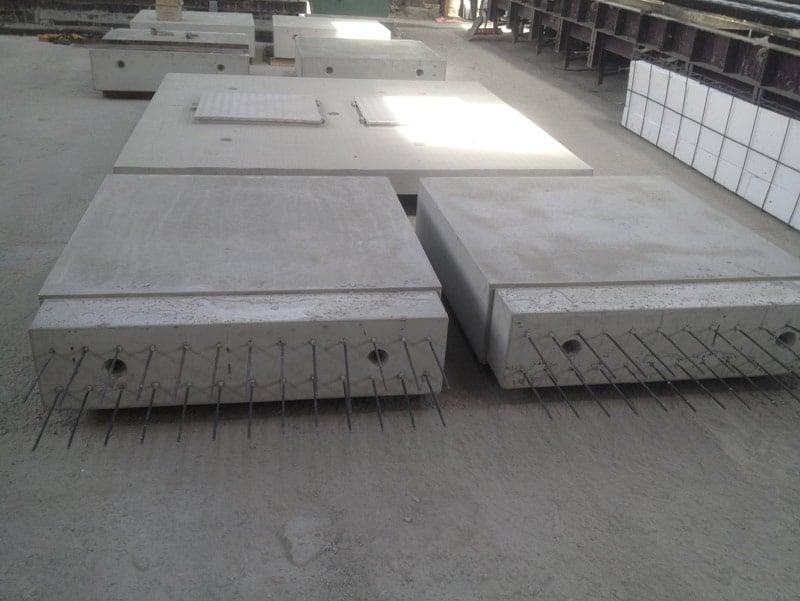 Pr fa g nie civil longrine crochet de levage poutre for Garage beton pret a poser
