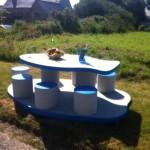 Table de pique-nique béton - Table poisson